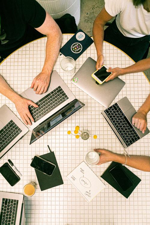 Search engine optimisation team at work at Evergreen Media